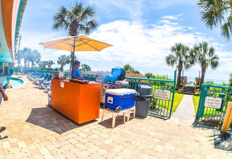 Sandcastle Oceanfront Resort South Beach, Myrtle Beach, Terasa restaurace