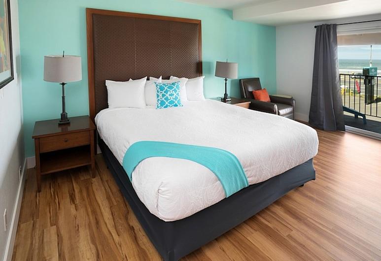 OYO Ocean Breeze Hotel at Lincoln City, Lincoln City, Quarto, 1 cama king-size, Vista Oceano, Quarto