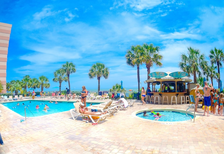 Sandcastle Oceanfront Resort at the Pavilion, Myrtle Beach, Piscine en plein air