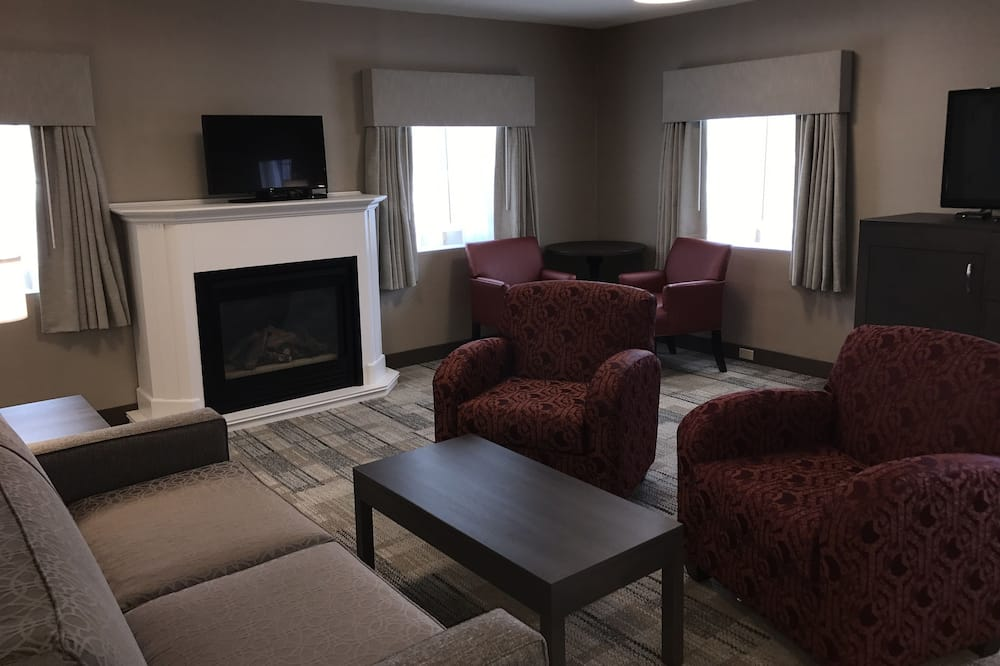 Suite, 1 King Bed with Sofa bed, Non Smoking, Fireplace (with Sofabed) - Living Area