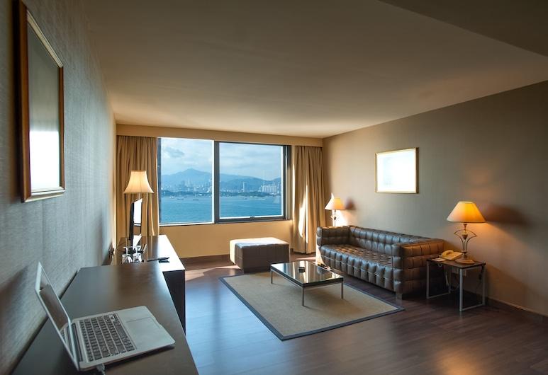 ベストウェスタン プラス ホテル香港 (香港華大盛品酒店), 香港, エグゼクティブ スイート ダブルベッド 1 台, リビング エリア