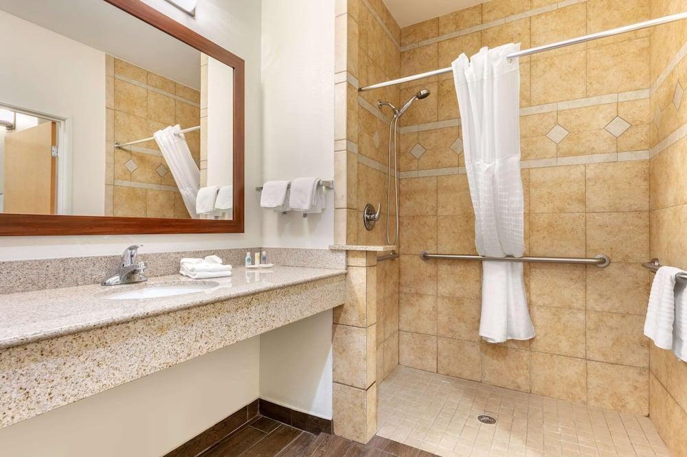 스위트, 킹사이즈침대 1개 및 소파베드, 장애인 지원, 금연 - 욕실