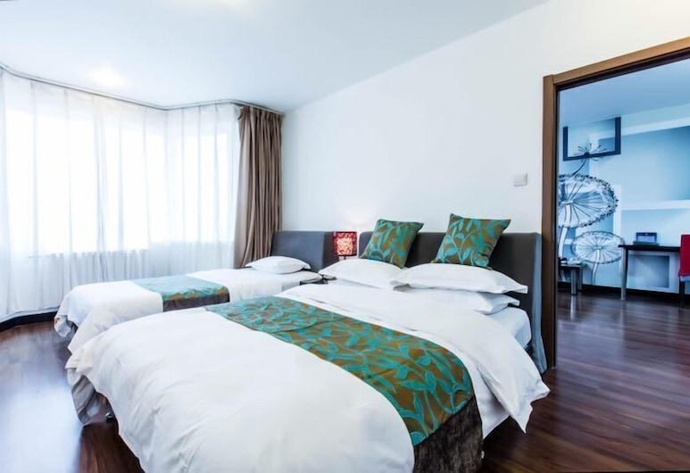 北京香榭舍酒店公寓, 北京市, 標準套房, 1 間臥室, 客廳