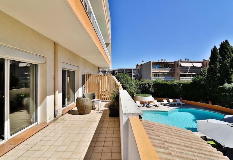 Hôtel de la Mer, Vallauris, Junior Suite, Terrace, Pool View, Terrace/Patio