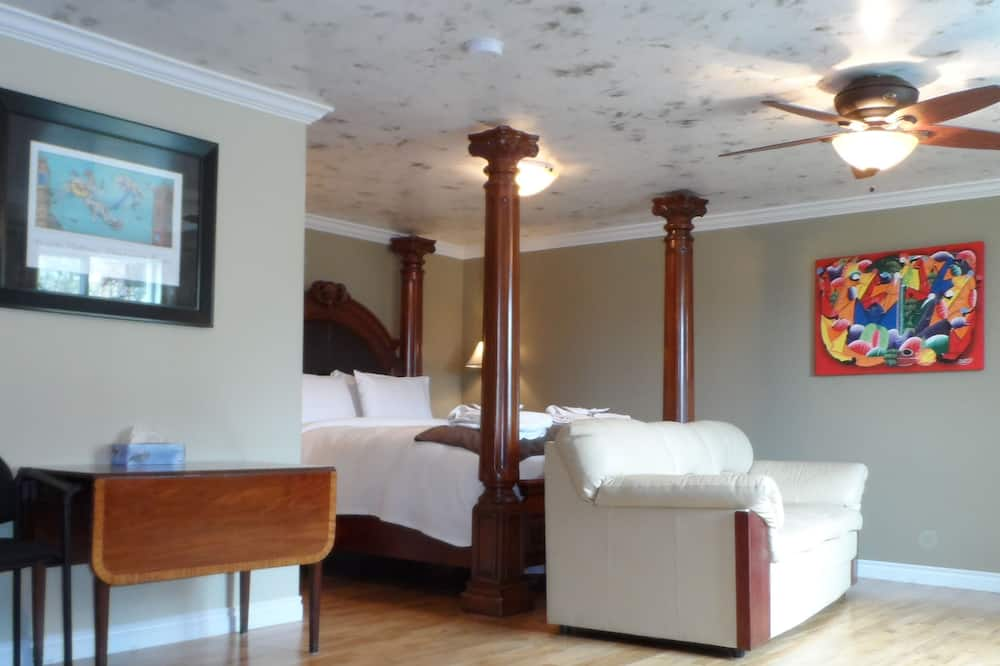 ห้องสวีท, เตียงควีนไซส์ 1 เตียง, อ่างน้ำวน - พื้นที่นั่งเล่น