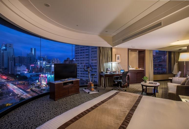 Grand Forward Hotel, Neu-Taipeh, Panoramic-Doppelzimmer, 1King-Bett, Ausblick vom Zimmer