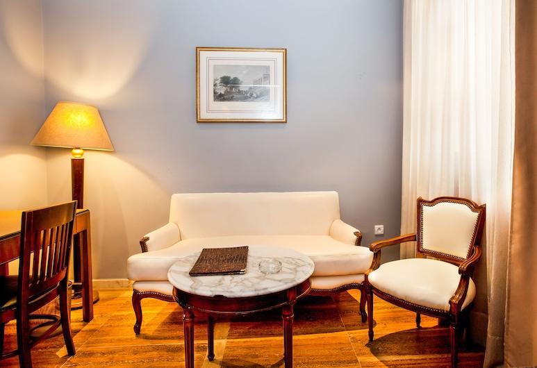 Hôtel Les Saisons, Casablanca, Pusluksusa numurs, Dzīvojamā istaba