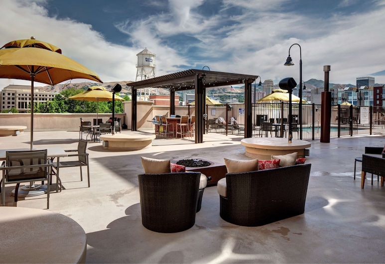 Homewood Suites by Hilton Salt Lake City-Downtown, Salt Lake City, Terraza o patio