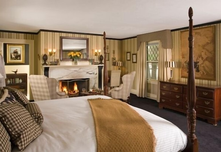 The Manor On Golden Pond, Holderness, Štandardná izba, krb, Hosťovská izba