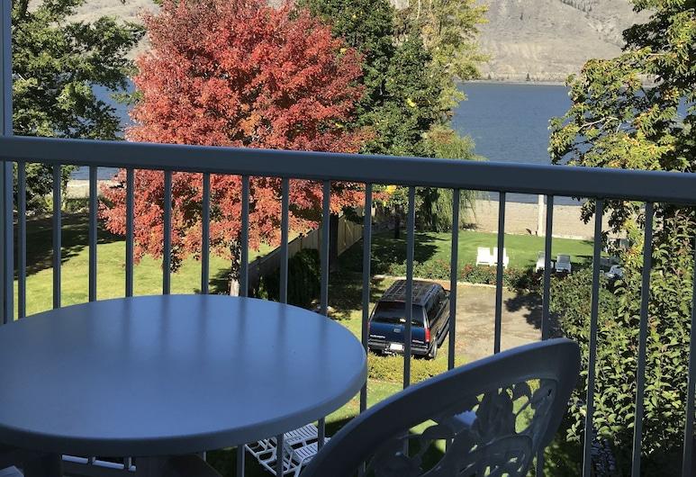 Lakeside Country Inn, Savona, Værelse - 1 queensize-seng - søudsigt, Altan