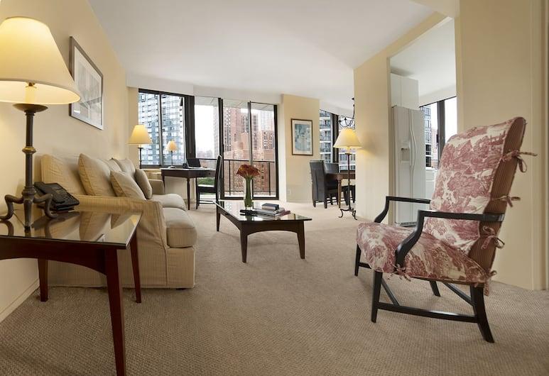 The Marmara Manhattan, New York, One 'Biggest' One Bedroom Suite, Kitchen, Living Room
