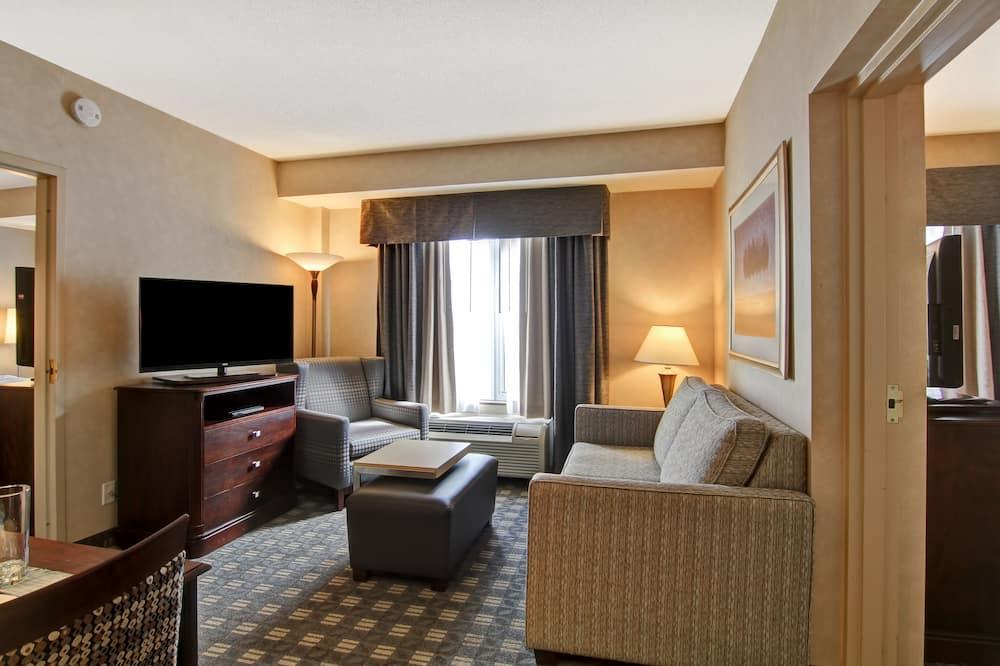 Apartmá, 2 ložnice, 2 koupelny - Obývací prostor