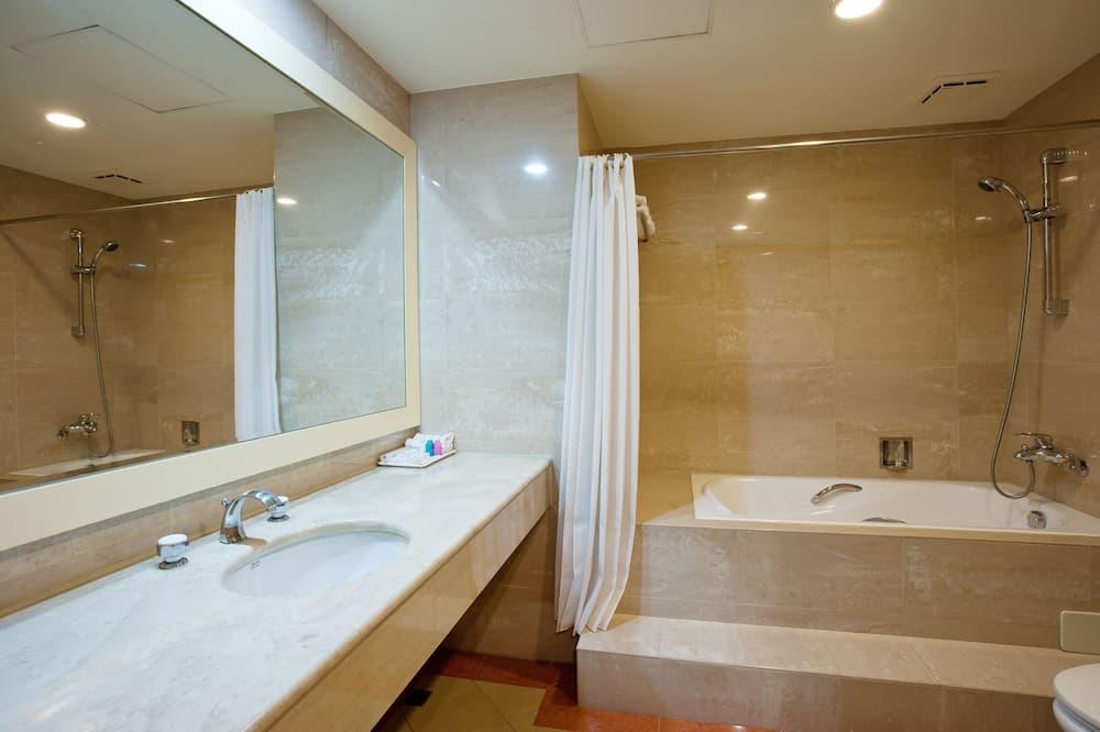 Standartinio tipo vienvietis kambarys, 1 didelė dvigulė lova - Vonios kambarys