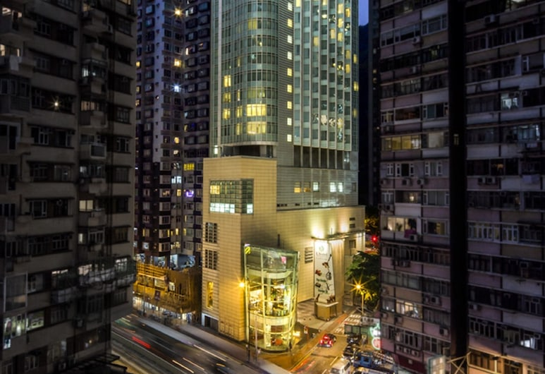 L' hotel Causeway Bay Harbour View, Hongkong, Hotellets front – kveld/natt