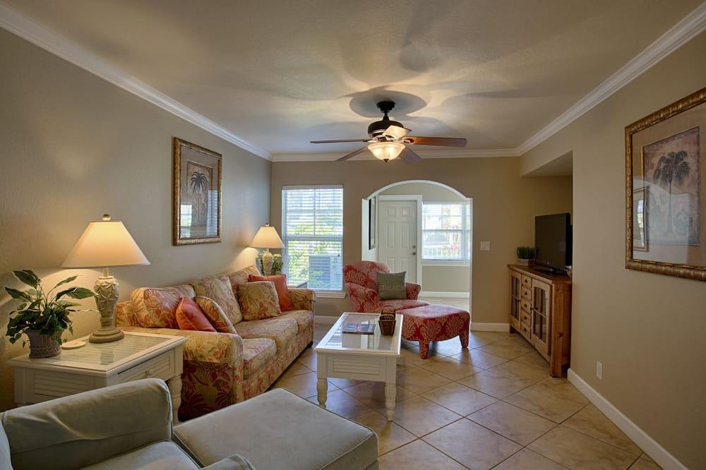 高级公寓式客房, 2 间卧室 - 起居区