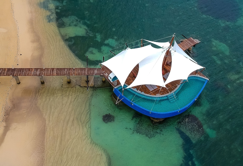 Coco de Mer Hotel and Black Parrot Suites, Praslin, Vista aerea