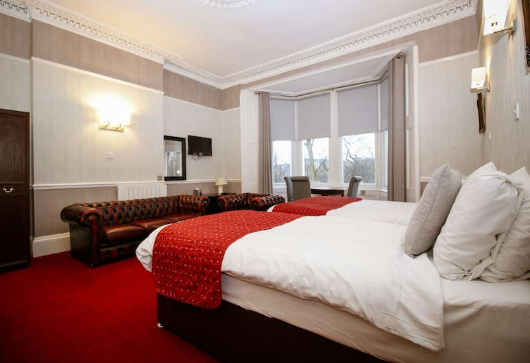 Ambassador Hotel, Glasgow, Triple Room, 3 Single Beds, Guest Room