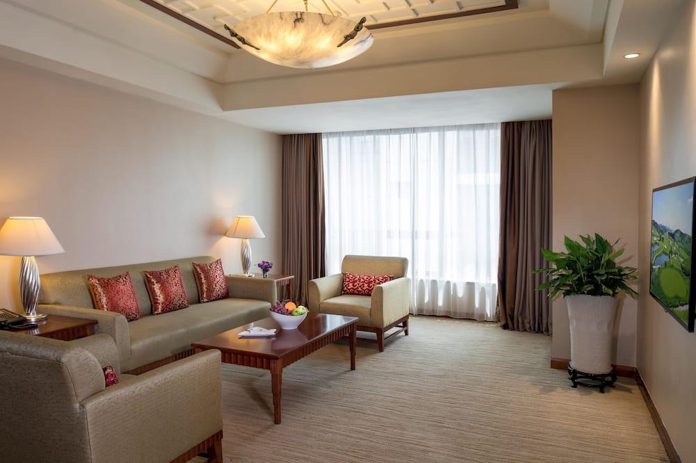 Deluxe-Suite, 1 Schlafzimmer - Wohnbereich