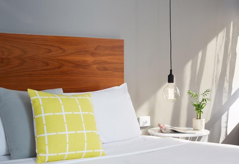 Cosmopolitan Hotel, St Kilda, Quarto Individual Básico, 1 cama de casal, Casa de Banho Privativa, Quarto