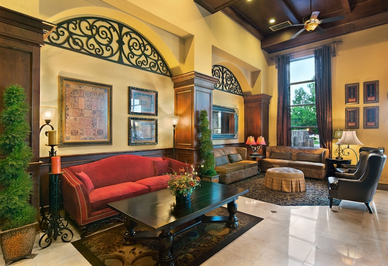 Oxford Suites Boise, Boise, Zona con asientos del vestíbulo