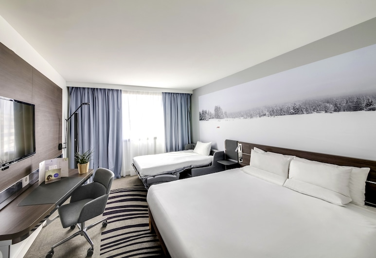 노보텔 파리 샹트르 갸르 몽파르나스, 파리, 슈피리어 더블룸, 더블침대 1개 및 소파베드, 객실 전망