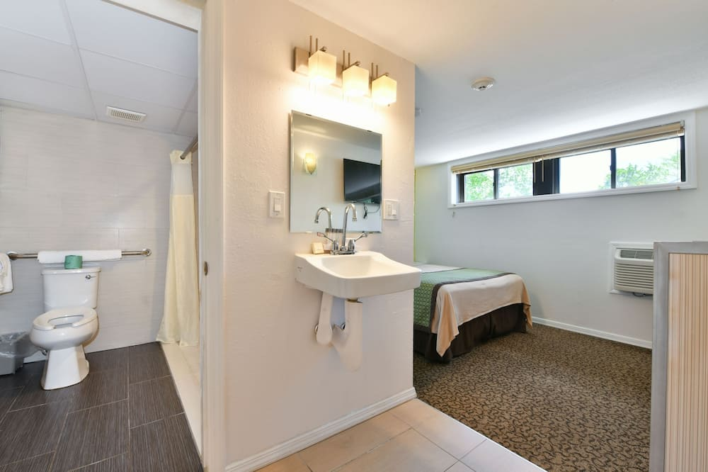 غرفة عادية - سرير كبير - تجهيزات لذوي الاحتياجات الخاصة - حمّام