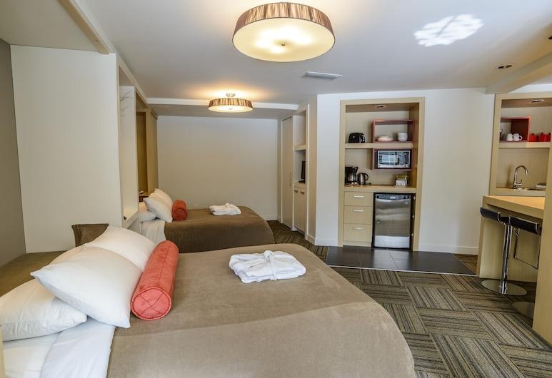 Bow View Lodge, Banff, Suite Studio Signature, vue fleuve, Chambre