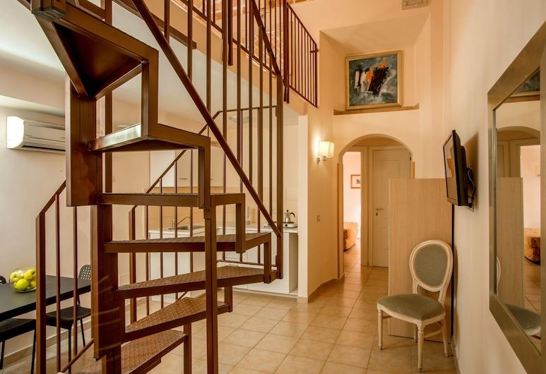 Hotel XX Settembre, Roma, Ekonominės klasės keturvietis kambarys, Svečių kambarys