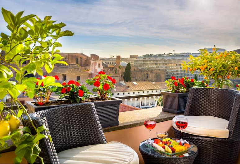 Hotel Diocleziano, Rome, Deluxe Double Room, Balcony