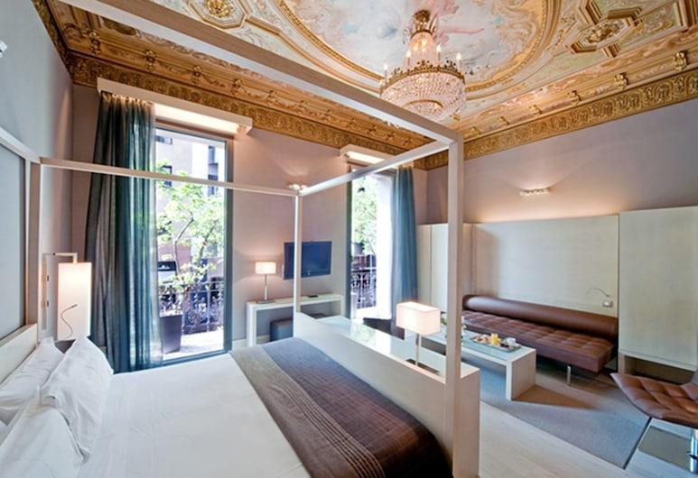 Hotel Actual, Barcelona, Suíte júnior, 1 cama de casal, Quarto