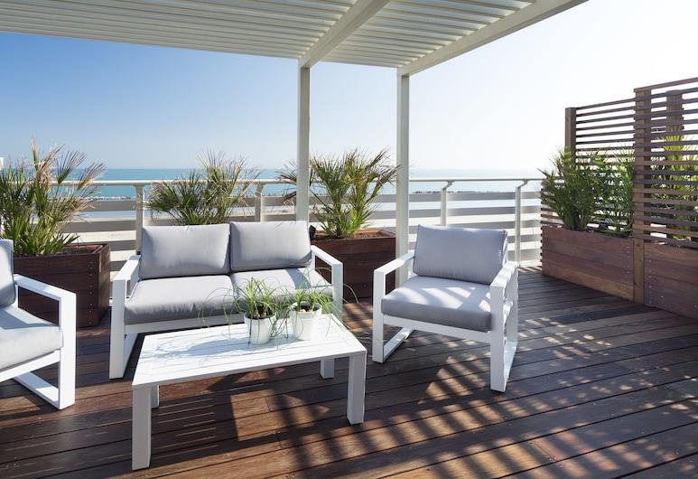 Hotel LaMorosa, Rimini, Chambre Double Supérieure, terrasse, vue mer, Balcon