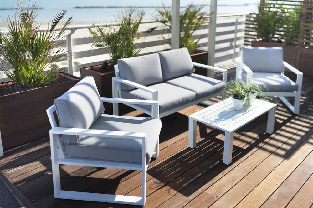 Superior-Doppelzimmer, Terrasse, Meerseite - Strand-/Meerblick