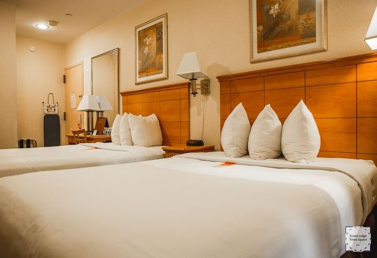 Econo Lodge Times Square, New York, Deluxe szoba, 2 kétszemélyes ágy, nemdohányzó, Vendégszoba