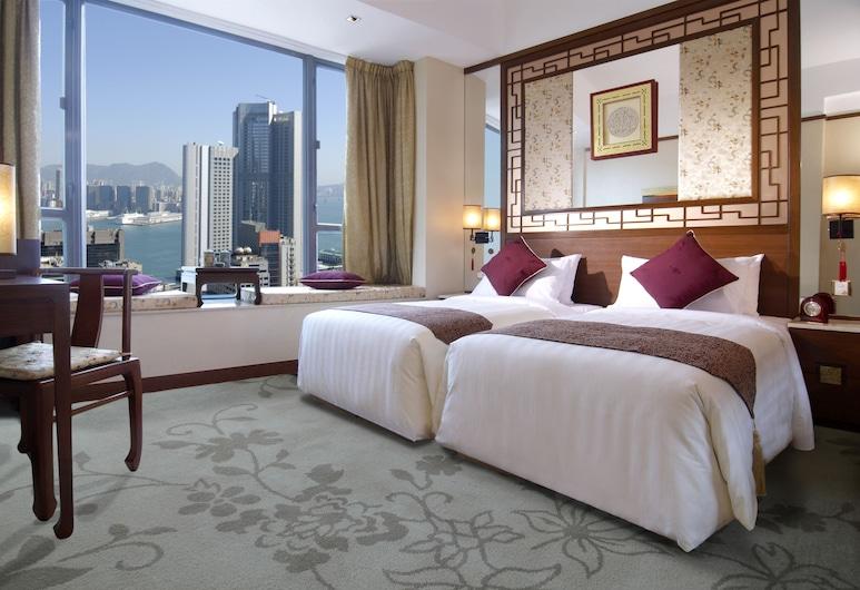 Lan Kwai Fong Hotel @ Kau U Fong, Hong Kong, Izba, výhľad na prístav, Hosťovská izba