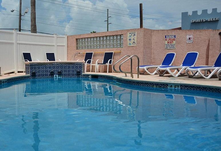 Flamingo Inn, South Padre Island, Piscine en plein air