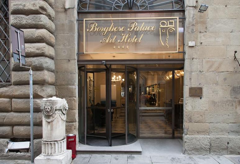 Borghese Palace Art Hotel, Florencja, Fasada hotelu