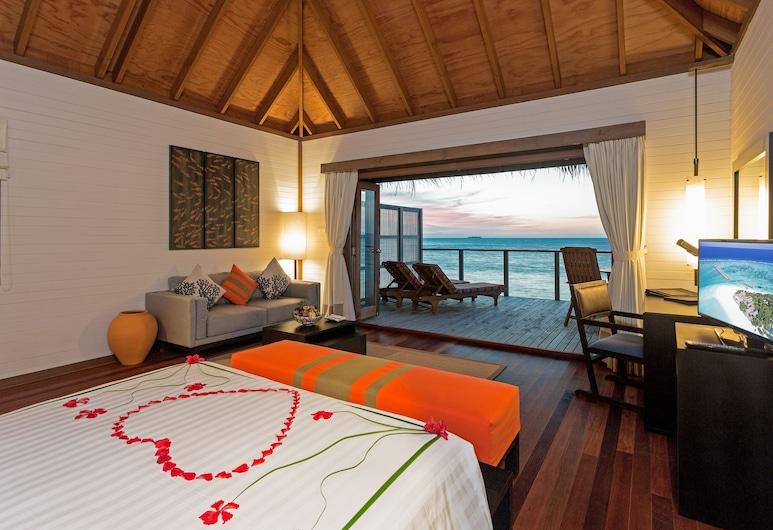 Meeru Island Resort & Spa, Meerufenfushi, Villa, hidromasszázskád, víz feletti, Vendégszoba