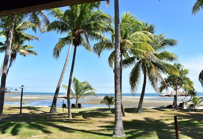 Club Fiji Resort, Nadi, Bungalow, en front de plage (Beach Front Bure), Balcon
