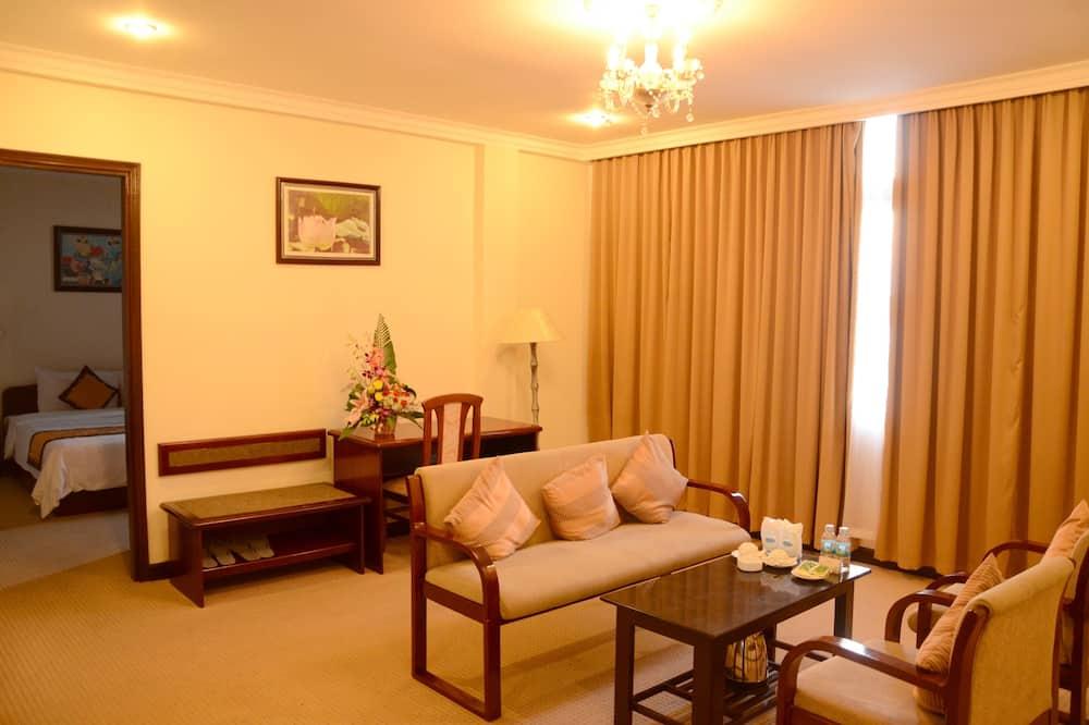 Prémium lakosztály, 1 kétszemélyes ágy - Nappali rész