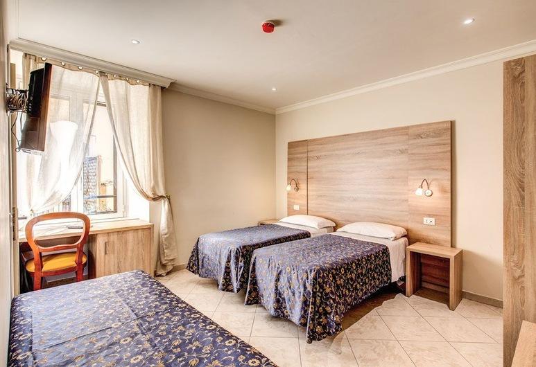 Hotel Continentale, Řím, Čtyřlůžkový pokoj, Pokoj