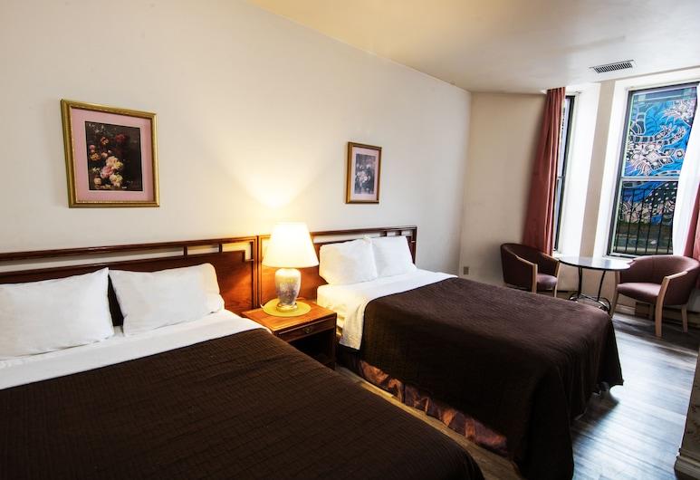 Casa Bella Hotel, Montréal, Chambre Standard, 2 lits doubles, salle de bains privée, Chambre