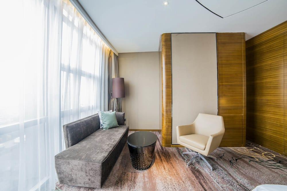 高级房, 2 张单人床, 城市景观 - Area soggiorno