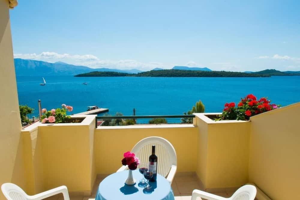 Dreibettzimmer, Meerblick - Blick vom Balkon
