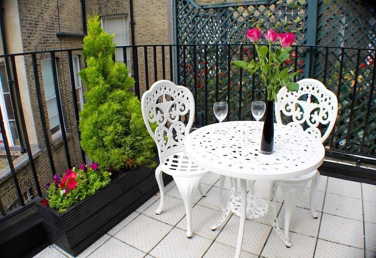 Sheriff Hotel, Londýn, Pokoj City s dvojlůžkem nebo dvěma jednolůžky, vlastní koupelna (With Balcony), Balkón