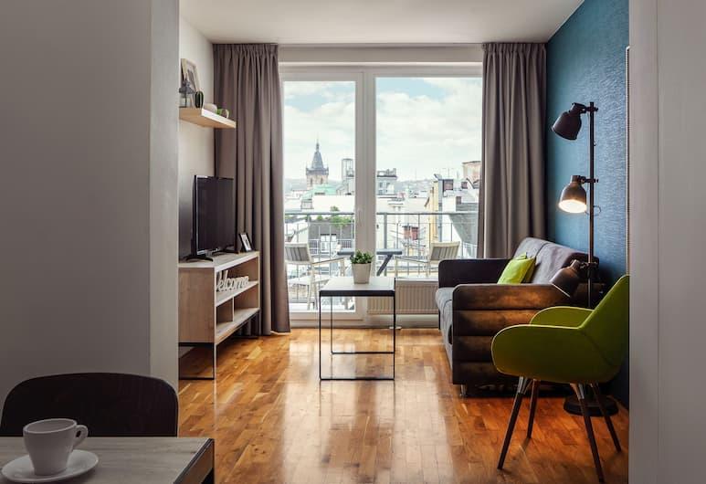 EA Hotel Apartments Wenceslas Square, Prag, Superior Apart Daire, 1 Yatak Odası, Oda