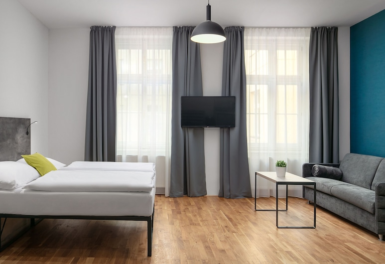 EA Hotel Apartments Wenceslas Square, Praga, Estúdio superior (4 People), Quarto