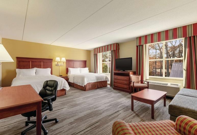 Hampton Inn & Suites Williamsburg Historic District, Williamsburg, Suite estudio Prestigio, Varias camas, Habitación