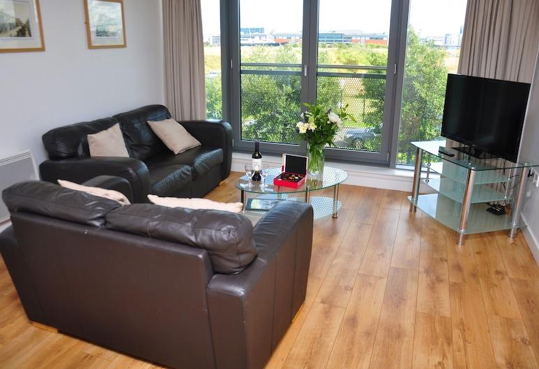 Ocean Serviced Apartments, Edinburgh, Standard Apartment, 2 Bedrooms, Living Room
