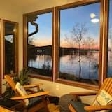 Cabaña panorámica, 3 habitaciones, vista al lago, junto al lago - Habitación