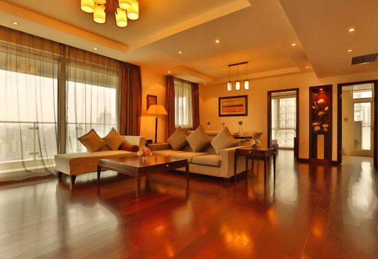 Rayfont Celebrity Hotel & Apartment Shanghai, Xangai, Sala de Estar